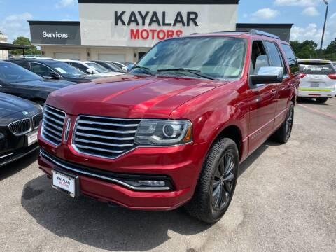 2015 Lincoln Navigator for sale at KAYALAR MOTORS in Houston TX