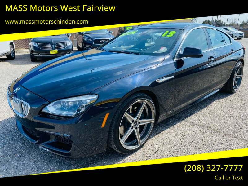 2013 BMW 6 Series for sale at M.A.S.S. Motors - West Fairview in Boise ID