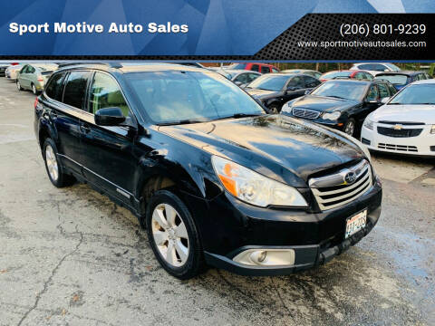 2010 Subaru Outback for sale at Sport Motive Auto Sales in Seattle WA