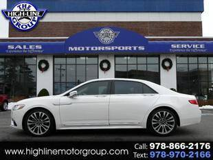 2017 Lincoln Continental for sale at Highline Group Motorsports in Lowell MA
