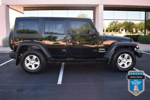 2014 Jeep Wrangler Unlimited for sale at GOLDIES MOTORS in Phoenix AZ