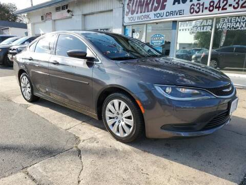 2016 Chrysler 200 for sale at Sunrise Auto Outlet in Amityville NY