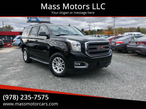 2015 GMC Yukon for sale at Mass Motors LLC in Worcester MA