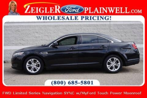 2014 Ford Taurus for sale at Zeigler Ford of Plainwell- michael davis in Plainwell MI
