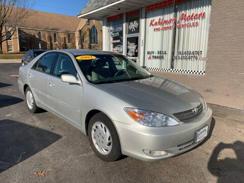 2003 Toyota Camry for sale at KUHLMAN MOTORS in Maquoketa IA