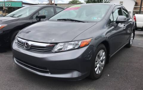 2012 Honda Civic for sale at Red Top Auto Sales in Scranton PA