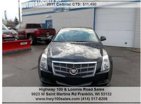 2011 Cadillac CTS for sale at Highway 100 & Loomis Road Sales in Franklin WI