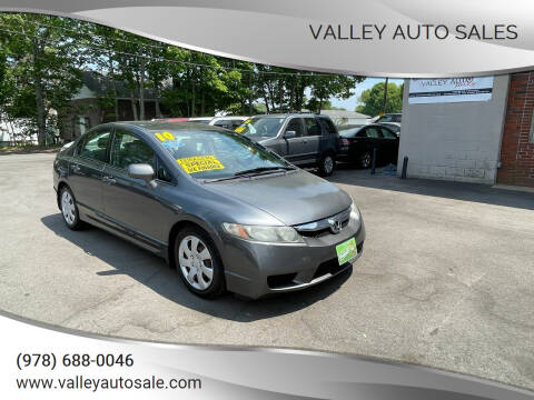 2010 Honda Civic for sale at VALLEY AUTO SALES in Methuen MA