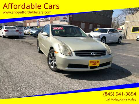 2005 Infiniti G35 for sale at Affordable Cars in Kingston NY