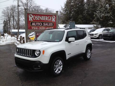 2017 Jeep Renegade for sale at Rosenberger Auto Sales LLC in Markleysburg PA