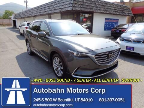 2016 Mazda CX-9 for sale at Autobahn Motors Corp in Bountiful UT