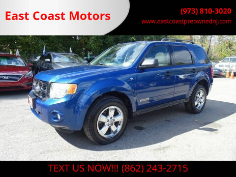 2008 Ford Escape for sale at East Coast Motors in Lake Hopatcong NJ
