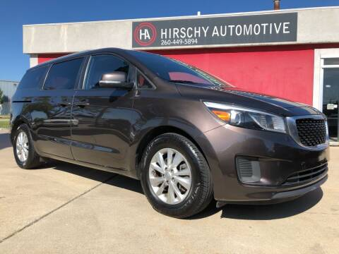 2016 Kia Sedona for sale at Hirschy Automotive in Fort Wayne IN