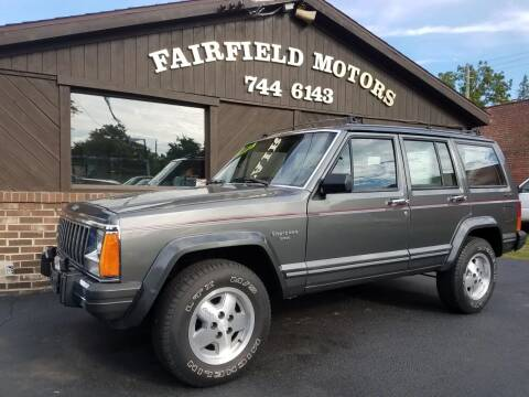 1987 Jeep Cherokee for sale at Fairfield Motors in Fort Wayne IN