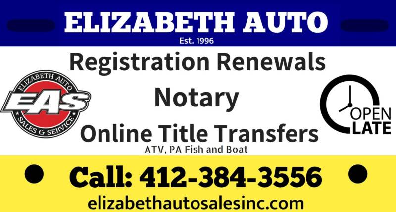 Notary Title Transfer for sale at ELIZABETH AUTO SALES in Elizabeth PA