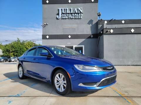 2015 Chrysler 200 for sale at Julian Auto Sales, Inc. in Warren MI