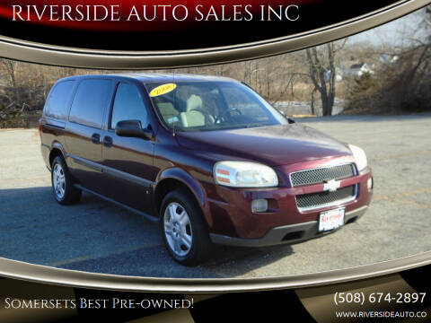 2008 Chevrolet Uplander for sale at RIVERSIDE AUTO SALES INC in Somerset MA