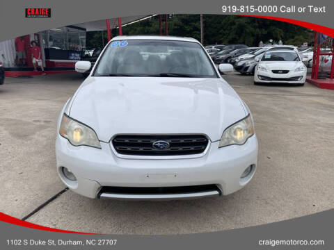 2006 Subaru Outback for sale at CRAIGE MOTOR CO in Durham NC