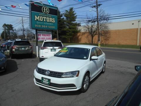 2018 Volkswagen Jetta for sale at Brookside Motors in Union NJ