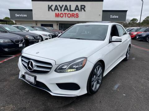 2015 Mercedes-Benz E-Class for sale at KAYALAR MOTORS in Houston TX