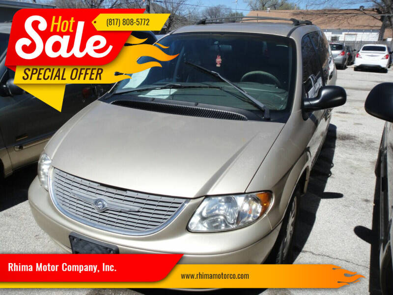 2001 Chrysler Town and Country for sale at Rhima Motor Company, Inc. in Haltom City TX