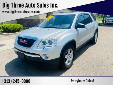 2011 GMC Acadia for sale at Big Three Auto Sales Inc. in Detroit MI