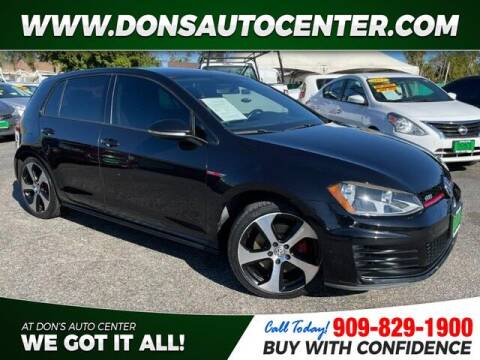 2016 Volkswagen Golf GTI for sale at Dons Auto Center in Fontana CA