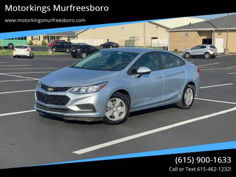 2017 Chevrolet Cruze for sale at Motorkings Murfreesboro in Murfreesboro TN