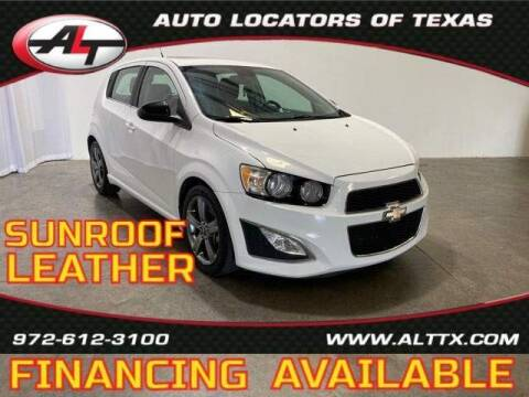 2013 Chevrolet Sonic for sale at AUTO LOCATORS OF TEXAS in Plano TX
