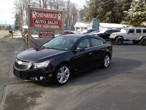 2014 Chevrolet Cruze for sale at Rosenberger Auto Sales LLC in Markleysburg PA
