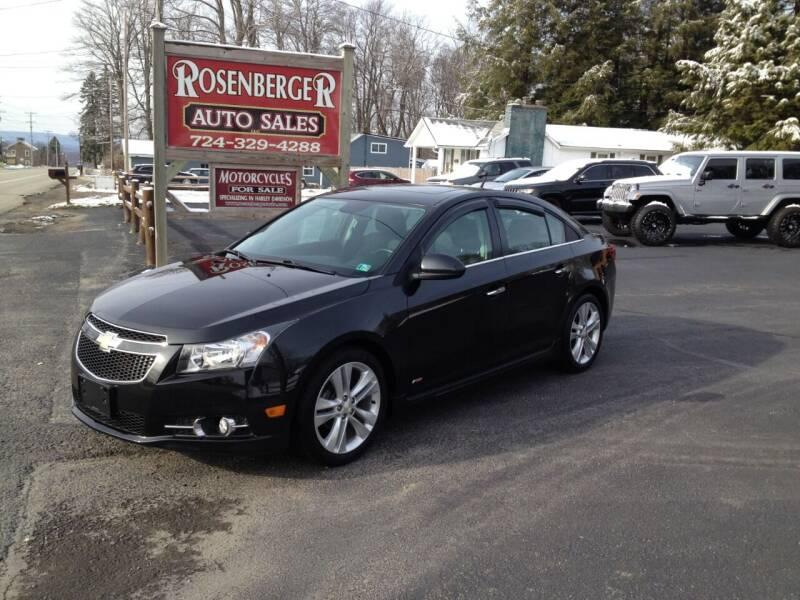 2014 Chevrolet Cruze for sale at Rosenberger Auto Sales LLC in Markleysburg PA