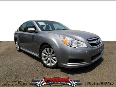 2011 Subaru Legacy for sale at PRIME MOTORS LLC in Arlington VA
