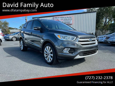 2017 Ford Escape for sale at David Family Auto in New Port Richey FL