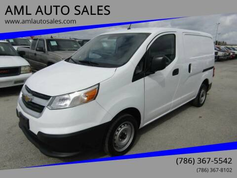 2015 Chevrolet City Express Cargo for sale at AML AUTO SALES - Cargo Vans in Opa-Locka FL