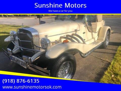 1982 Mercedes-Benz Gazelle Replica for sale at Sunshine Motors in Bartlesville OK