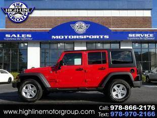 2017 Jeep Wrangler Unlimited for sale at Highline Group Motorsports in Lowell MA