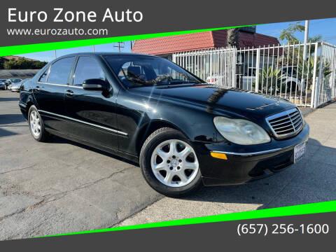 2002 Mercedes-Benz S-Class for sale at Euro Zone Auto in Stanton CA