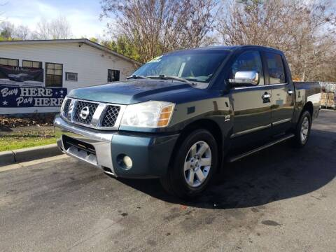 2004 Nissan Titan for sale at TR MOTORS in Gastonia NC