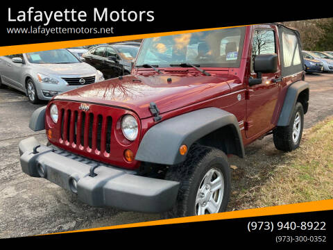 2012 Jeep Wrangler for sale at Lafayette Motors in Lafayette NJ