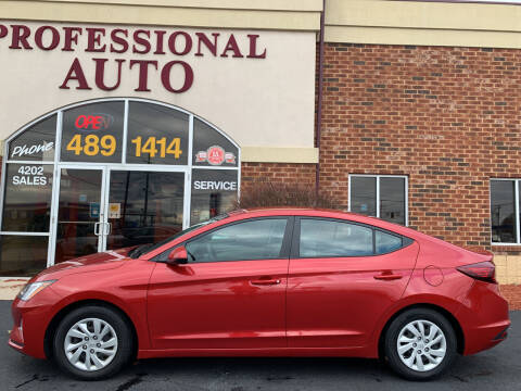 2019 Hyundai Elantra for sale at Professional Auto Sales & Service in Fort Wayne IN
