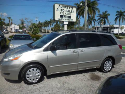 2006 Toyota Sienna for sale at Aubrey's Auto Sales in Delray Beach FL