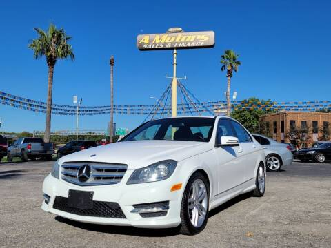 2013 Mercedes-Benz C-Class for sale at A MOTORS SALES AND FINANCE - 10110 West Loop 1604 N in San Antonio TX