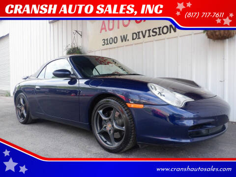 2002 Porsche 911 for sale at CRANSH AUTO SALES, INC in Arlington TX