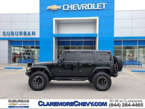 2012 Jeep Wrangler Unlimited for sale at Suburban Chevrolet in Claremore OK