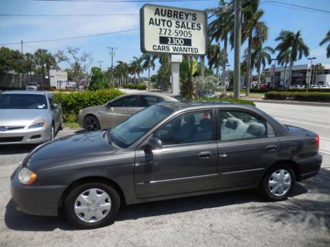 2004 Kia Spectra for sale at Aubrey's Auto Sales in Delray Beach FL