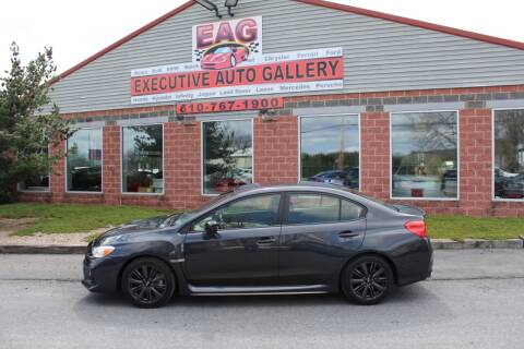2018 Subaru WRX for sale at EXECUTIVE AUTO GALLERY INC in Walnutport PA