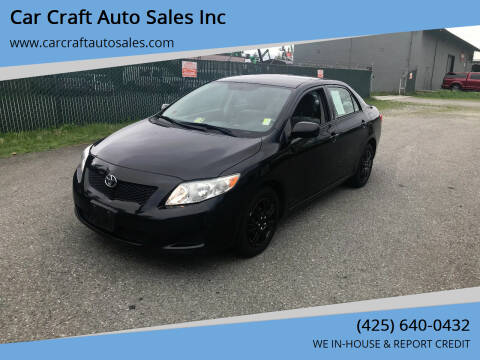 2009 Toyota Corolla for sale at Car Craft Auto Sales Inc in Lynnwood WA