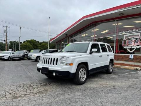 2012 Jeep Patriot for sale at USA Motor Sport inc in Marlborough MA