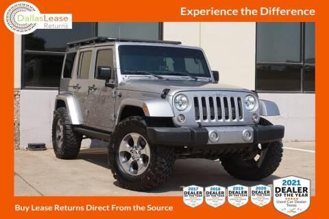 2016 Jeep Wrangler Unlimited for sale at Dallas Auto Finance in Dallas TX