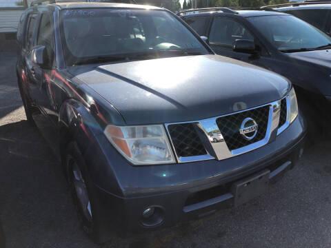 2005 Nissan Pathfinder for sale at Matt-N-Az Auto Sales in Allentown PA